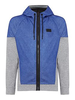 Skipton part coated hooded sweat