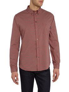 Tailored fit micro check shirt