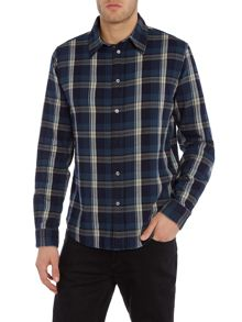 Paul Smith Jeans Tailored fit brushed herringbone check shirt