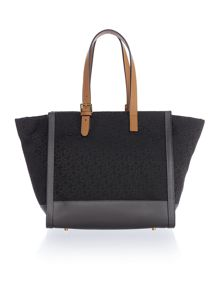 DKNY Buckle multi-coloured tote bag