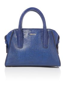 Sutton blue mini satchel bag