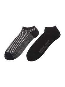 Levi's 2 pack of low cut stripe trainer sock