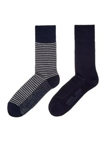 2 pack of striped trainer sock