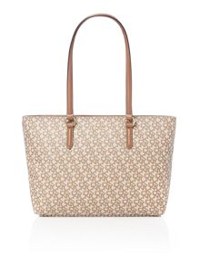 DKNY Coated logo neutral large tote bag