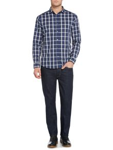 Finch check long sleeve shirt