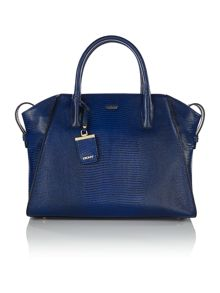 Sutton blue large satchel bag