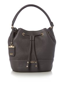 DKNY Tribeca dark grey bucket bag