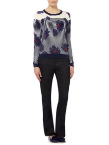 Dickins & Jones Stripe and Floral Jumper