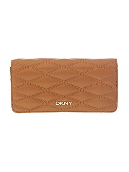 DKNY Quilt light tan large flap over purse