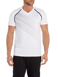 Bjorn Borg Short sleeve stitch free raglan v neck troy tee