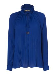 Biba Fully pleated collar detail volume blouse