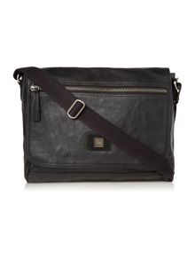 Barllon leather messenger bag