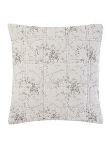 Shabby Chic Grey floral cushion