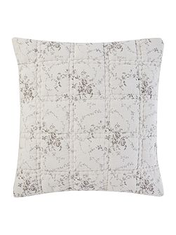 Grey floral cushion