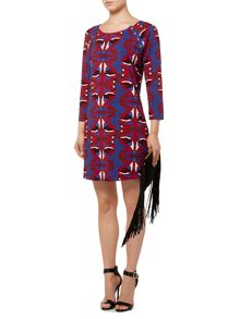 Biba Printed jersey shift dress