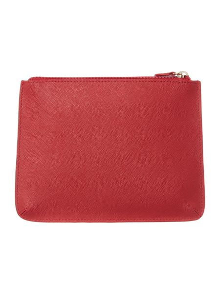 DKNY Saffiano multi coloured triple pouch