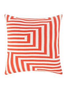 Linea Knitted geo cushion, red
