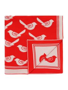 Dickins & Jones Stylised bird throw