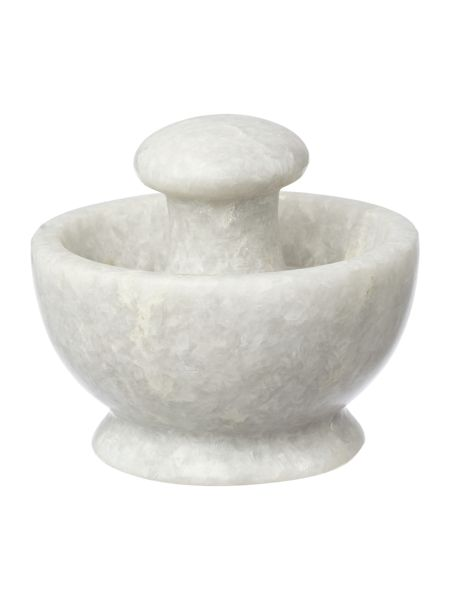 Gray & Willow Light marble pestle and mortar