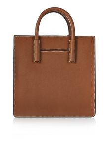 Saffiano dark tan tote bag