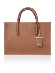 DKNY Saffiano dark tan tote bag