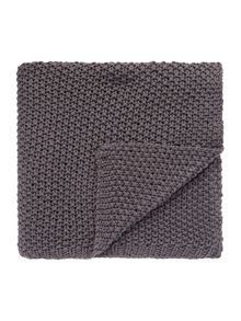 Gray & Willow Large gauge knit throw