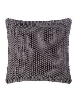 Large gauge knit cushion