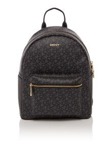 Coated logo black backpack