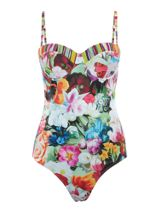 Ted Baker Floral imari swirl runched swimsuit