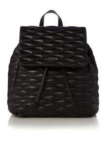 DKNY Quilted black backpack