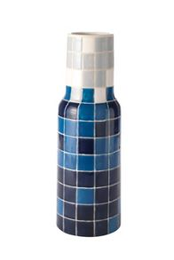 Linea Ivan blue multi mosaic bottle vase H37cm