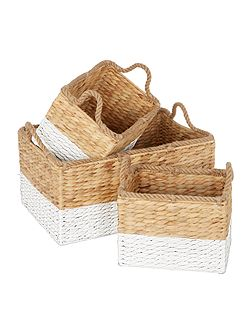 Set of 3 Dipped Baskets