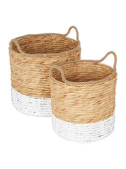 Set of 2 Round Dipped Baskets