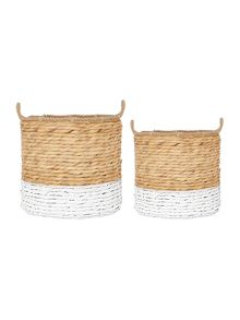 Linea Set of 2 Round Dipped Baskets