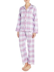 Cyberjammies Pink check pj set