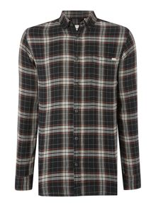 Jack & Jones Dark Base Flannel Long Sleeve Shirt