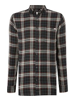 Dark Base Flannel Long Sleeve Shirt