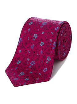 Howick Tailored Boxford Bright floral jacquard silk tie