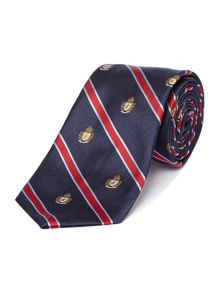 Howick Tailored Branford Club Stripe Shield Silk Tie