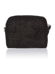 Snake black small cross body bag