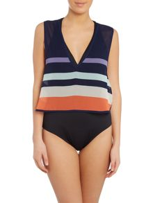 Ted Baker Sportee cover up crop top