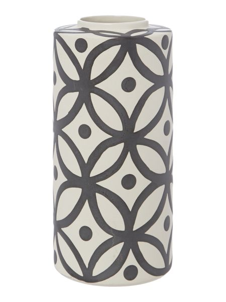 Living by Christiane Lemieux Abacus ceramic grey geometric vase