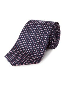 Howick Tailored Camas Geo mini square jacquard silk tie