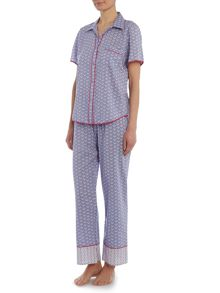 Cyberjammies Blue geo print pj set