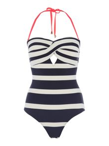 Ted Baker Cirana Navy Stripe Nautical Swimsuit