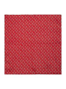 Howick Tailored Cheviank Printed seahorse pocket square