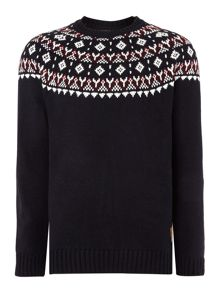 Fairisle Crew Neck Knitted Jumper