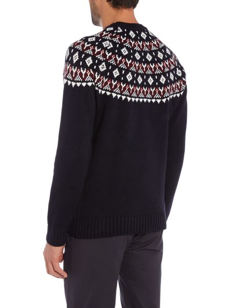 Jack & Jones Fairisle Crew Neck Knitted Jumper