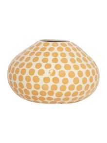 Dickins & Jones Rosie polka dot bud mustard vase H8cm