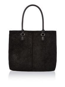 Snake black tote bag